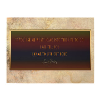 Emile Zola : Thoughts Wood Print