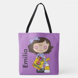 Emilia Loves Crayons Tote Bag