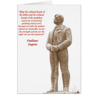 Emiliano Zapata quote 2 note card