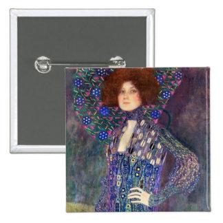 Emilie Floege, 1902 2 Inch Square Button
