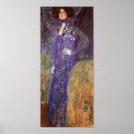 Emilie Floege By: Gustav Klimt Poster