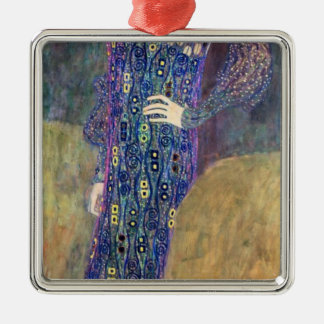 Emilie Floege Silver-Colored Square Ornament