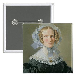 Emilie Kessel  1839 2 Inch Square Button