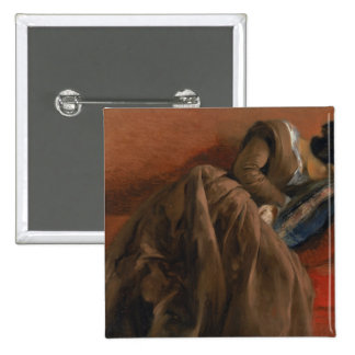 Emilie, the Artist's Sister, Asleep 2 Inch Square Button