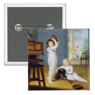Emily and George Mason, c.1794-95 (oil on canvas) 2 Inch Square Button