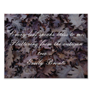 Emily Brontë Autumn Quote Poster