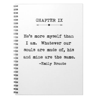 Emily Bronte Quote Notebook