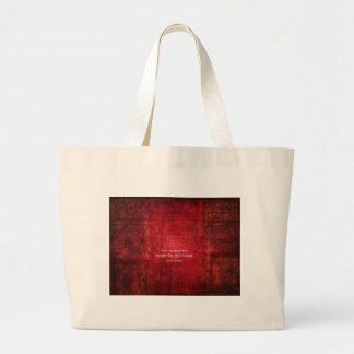 Emily Bronte quote - She burned too bright Large Tote Bag