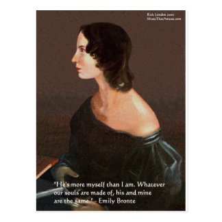 """Emily Bronte """"Souls Same"""" Love Quote Gifts & Cards"""