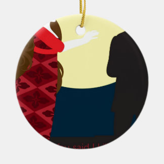 Emily Bronte / Wuthering Height gift design Round Ceramic Ornament