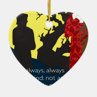 Emily Bronte / Wuthering Height gift design with q Ceramic Heart Ornament