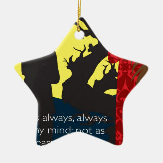 Emily Bronte / Wuthering Height gift design with q Ceramic Star Ornament