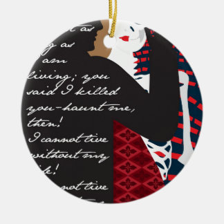Emily Bronte / Wuthering Height gift design with q Round Ceramic Ornament