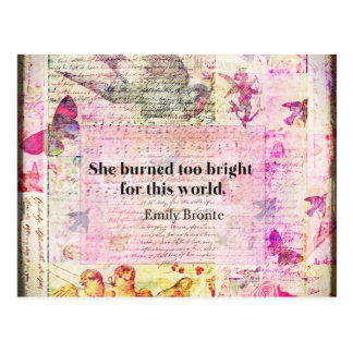 Emily Brontë, Wuthering Heights quote Postcard