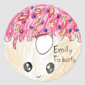 Emily: Circle Sticker