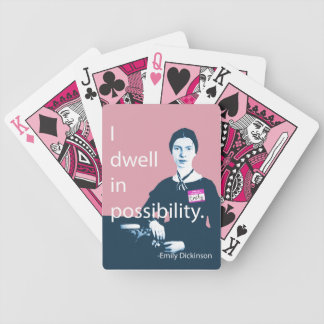 Emily Dickinson I Dwell In Possibility Deck Bicycle Playing Cards