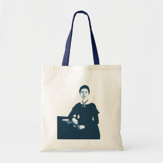 Emily Dickinson Navy Blue Photo Tote