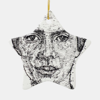 emily dickinson portrait ceramic ornament