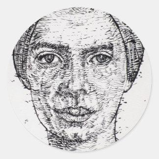 emily dickinson portrait classic round sticker