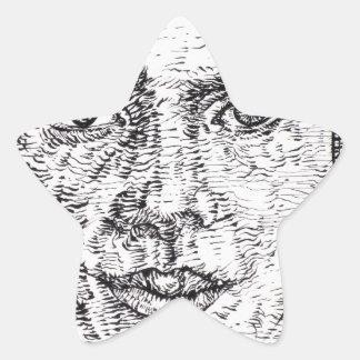 emily dickinson portrait star sticker