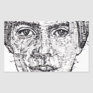 emily dickinson portrait sticker