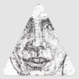 emily dickinson portrait triangle sticker