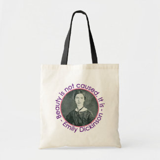 Emily Dickinson Portrait With Quote Tote Bag