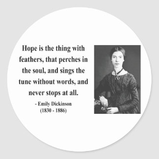 Emily Dickinson Quote 1b Classic Round Sticker