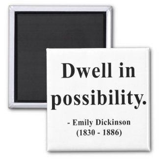 Emily Dickinson Quote 2a Magnet