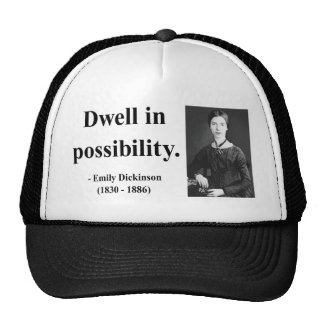 Emily Dickinson Quote 2b Trucker Hat