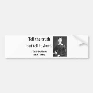 Emily Dickinson Quote 9b Bumper Sticker