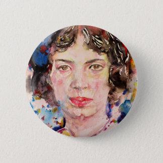 emily dickinson - watercolor portrait.2 2 inch round button
