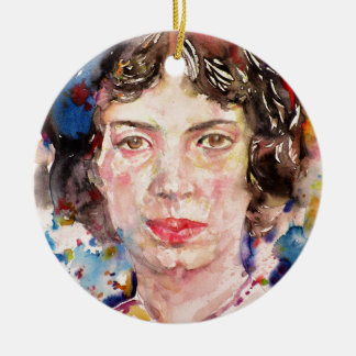 emily dickinson - watercolor portrait.2 ceramic ornament