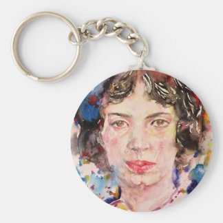 emily dickinson - watercolor portrait.2 keychain