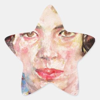 emily dickinson - watercolor portrait.2 star sticker
