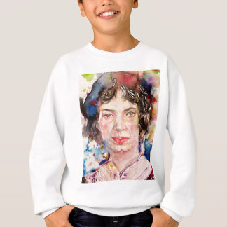 emily dickinson - watercolor portrait.2 sweatshirt