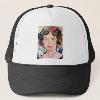 emily dickinson - watercolor portrait.2 trucker hat