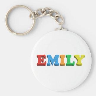 Emily Dough/Foam Letters Keychain