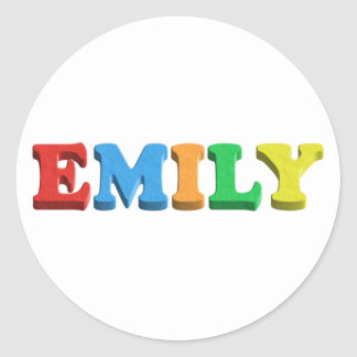 Emily Dough/Foam Letters Round Sticker