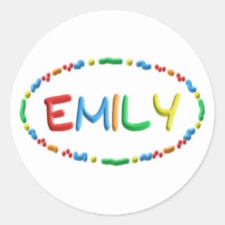 Emily Dough Fun Round Sticker