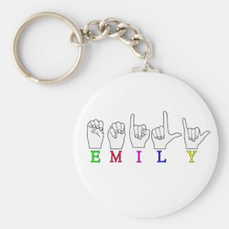 EMILY FINGERSPELLED NAME ASL KEYCHAIN