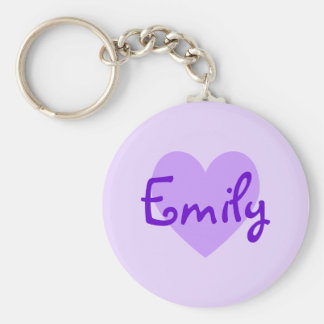 Emily in Purple Keychain