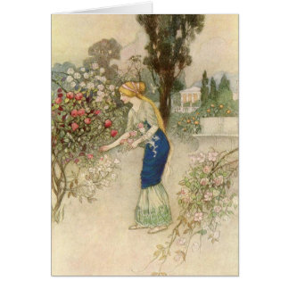 Emily in the Garden - Card