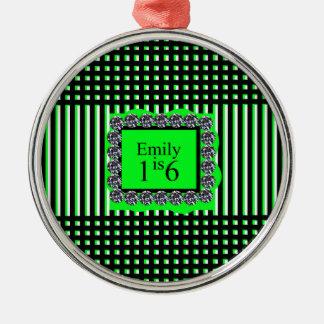 Emily is 16_sweet_diamond_monogram_design Silver-Colored round ornament