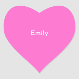 Emily Kids Name Sticker Personalized Pink White