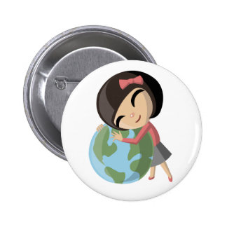 Emily Loves the Earth 2 Inch Round Button