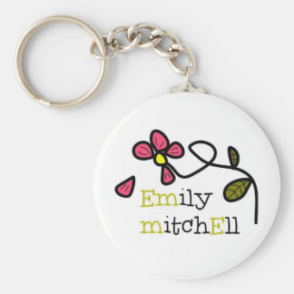 Emily Mitchell Flower Logo Keychain