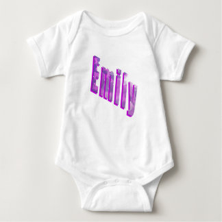 Emily, Name, Dimensional Logo, Baby Jumpsuit Baby Bodysuit