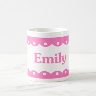 Emily Name Pink Lace Coffee Mug