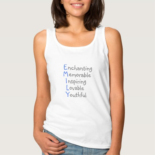 Emily - Personalized Blue Acrostic with Virtues Tank Top